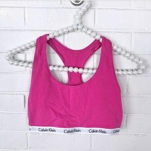 {Calvin Klein} Bright Pink Bralette/Sports Bra